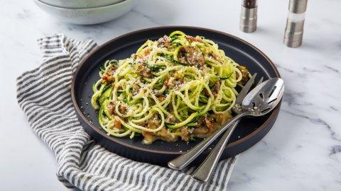 Keto Mushroom Carbonara with Zucchini Recipe