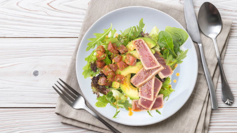 Keto Ahi Salad Recipe