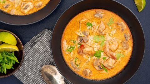 Keto Thai Coconut Chicken Soup Recipe