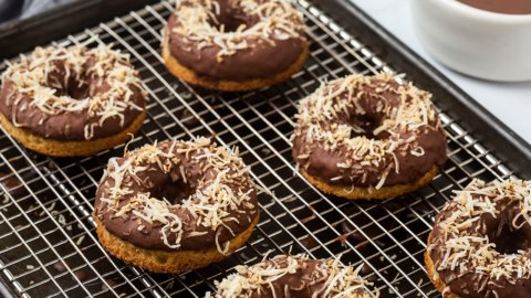 Keto Vanilla Donuts with Chocolate Glaze Recipe