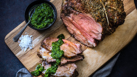 Keto Lamb Roast Chimichurri Sauce Recipe
