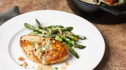 Skillet Chicken and Asparagus Recipe