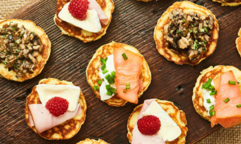 Blini with 3 Toppings Recipe