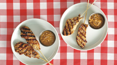 2 Step Satay with Peanut Sauce Recipe