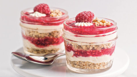 Raspberry Cheesecake Pots Recipe