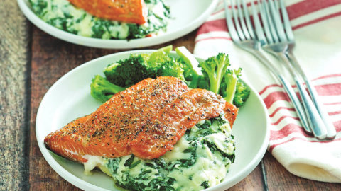 Snappy Stuffed Salmon Recipe