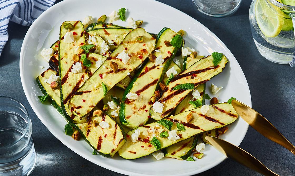 Keto Grilled Zucchini Salad Recipe